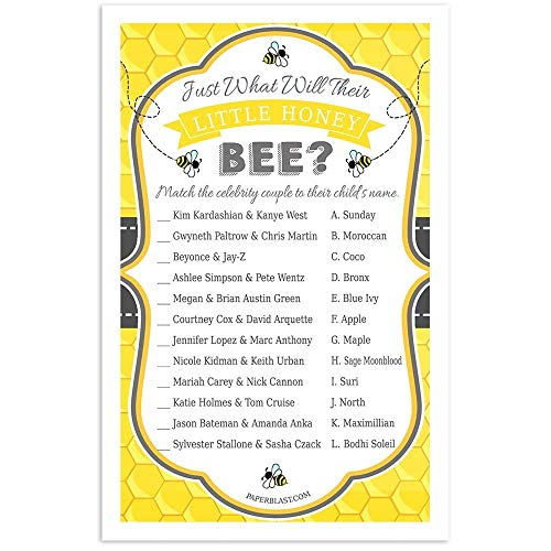 Little Honey Bee Baby Shower Game - Celebrity Baby Names