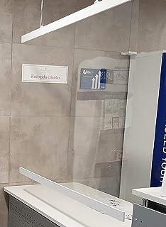 Mampara Proteccion Metacrilato de anclaje en techo para comercios ...