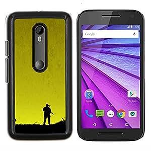 Qstar Arte & diseño plástico duro Fundas Cover Cubre Hard Case Cover para Motorola MOTO G3 / Moto G (3nd Generation) (Metal Gear Sunset)