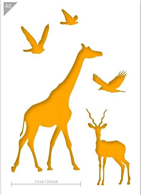 African Animals Stencil