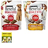 Purina Beneful Break N Bites Soft Dog Treats Variety Pack. Beef and Chicken Flavored Dog Chews. Popular Dog Calming Snacks for Your Favorite Pet. Puppies Love Em! Also Includes a Dependable Puppy Pad. For Sale