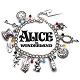 Alice in Wonderland Charm Bracelet - Disney Costume Jewelry Gift Merchandise