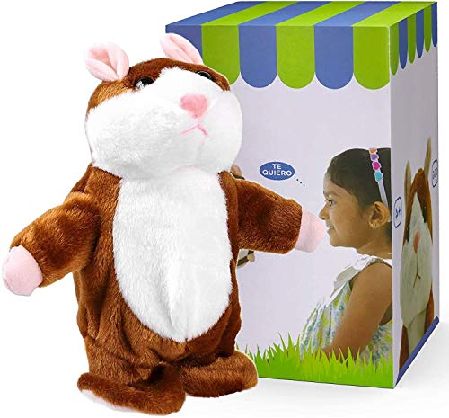 DeeXop Talking Hamster Toy, Gift for Children, Stuffed Animal Repeats,Interactive Plush Pet for Kids Early Learning Buddy