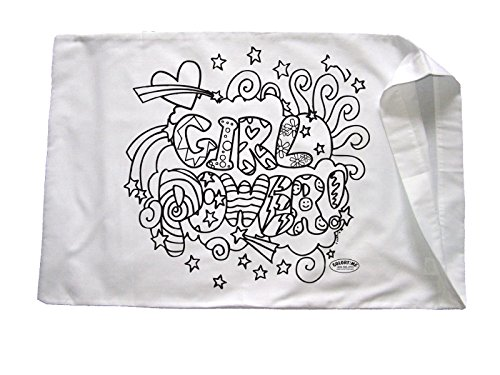 Party Pillowcase - Colortime Crafts and Markers Girl Power Pillowcase