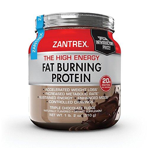 Zantrex High Energy Fat Burning Protein, Triple Chocolate Fudge, 18 oz