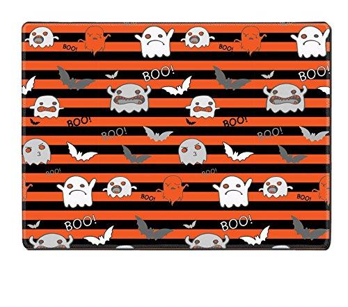 Liili Natural Rubber Placemat IMAGE ID: 22067729 Halloween Ghost Bat Pumpkin Seamless Pattern (Halloween Bat Crochet Patterns)