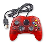 xbox s type controller wireless - Mekela Classic wired Controller Gamepad for Xbox S-Type (Clear Red)