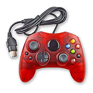 Mekela Classic wired Controller Gamepad Joysticks for Xbox S Type console (ClearRed)
