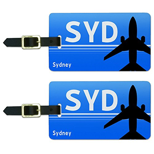 Tag Australia Luggage (Sydney New South Wales Australia (SYD) Airport Code Luggage ID Tags Set of 2)