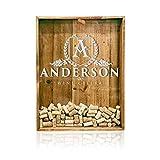 18x24 Shadow Box Cork Holder: Wine Cork Holder, Wine Cork Wedding Gift, Personalized Shadow Box, House Warming Gift, Vineyard, Winery