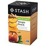 Stash Tea Ginger Peach Green with Matcha, 18 Count