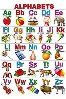 100yellow Paper Hindi Varnmala Chart for Children Learning