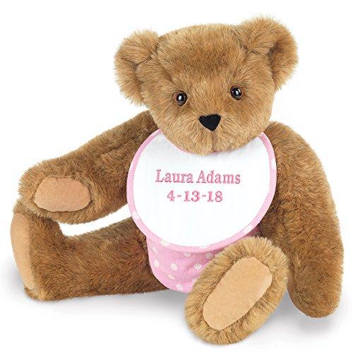 Teddy Pink Girl (Vermont Teddy Bear - New Baby Custom Gift, 15