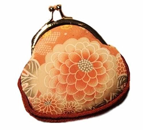 [POJ Japanese Style Coin Purse Wide Bottom Japan's Traditional Flowers Pattern Cosplay Goods] (Rogue Costume Uk)