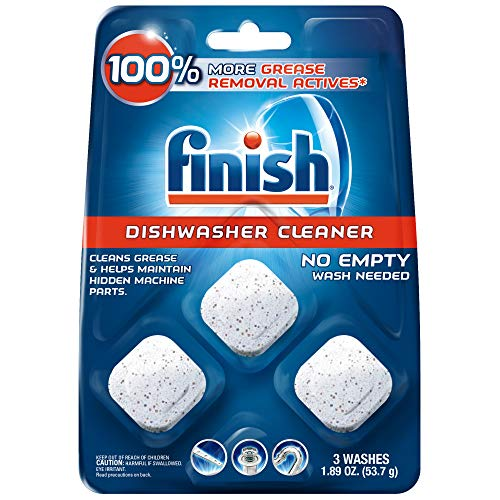 (Finish In-Wash Dishwasher Cleaner: Clean Hidden Grease & Grime, 3ct)