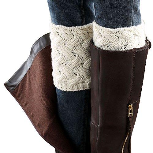 KIKOY Boho Ladies Winter Brief Paragraph Leg Warmers Lace Trim Boutique ()