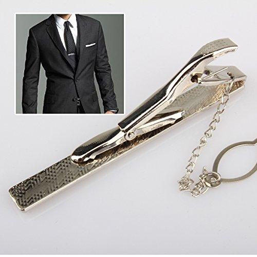 ACE Simple Necktie Tie Clasp Clip Gentleman Metal Silver Tone Girl Fashion (Ace Tie)