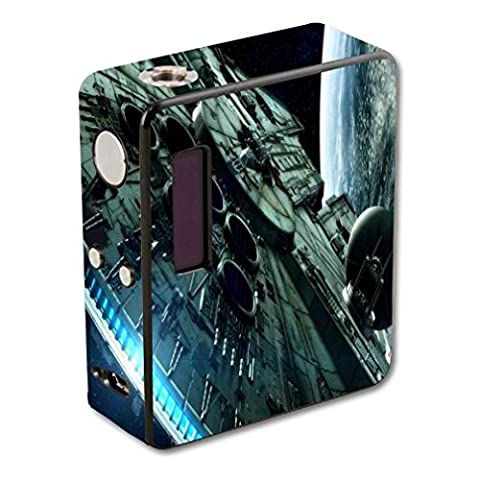 Lost Vape Esquare DNA 40 Vape E-Cig Mod Box Vinyl DECAL STICKER Skin Wrap / Popular Spaceship - Lost Soles Vinyl