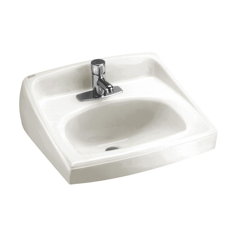 Amazon.com: American Standard 0356.421.020 Lucerne Wall Mount Lavatory Sink  With Center Faucet Hole, White: Home Improvement