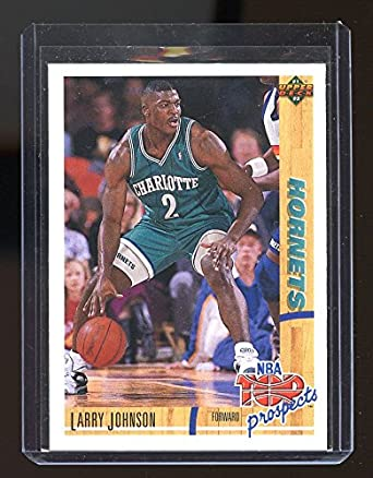 1991 92 Upper Deck Tp 445 Larry Johnson Charlotte Hornets