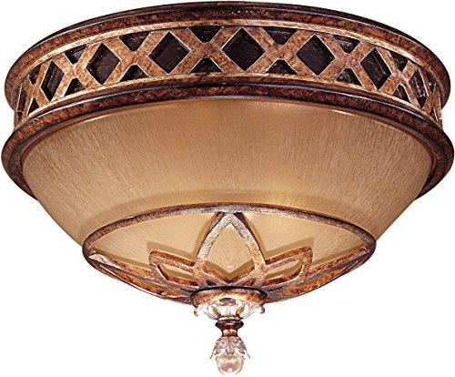 Minka Lavery Flush Mount Ceiling Light 1755-206, Aston Court Round Glass Fixture, 2 Light, 120 Watts, Bronze