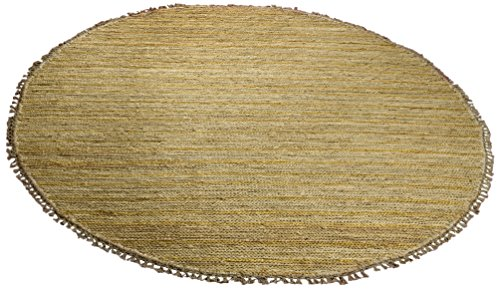 Safavieh Organica Collection ORG111A Hand-Knotted Natural Wool Round Area Rug (6' Diameter) Fine Sisal Rug