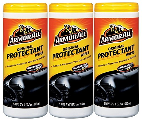 Armor All Wipes Car Interior Wipes,Original Protectant Wipes,25 Wipes (3 Pack)