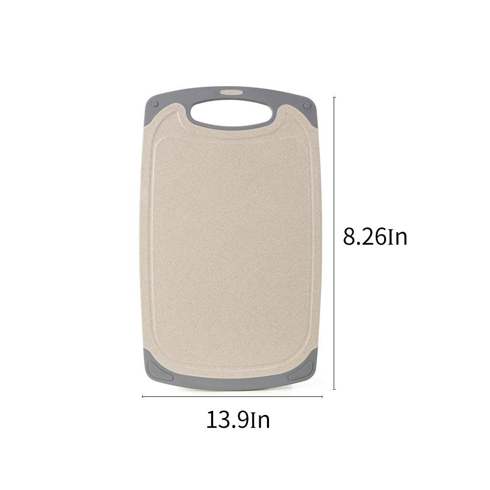 16.5 x 13.9 inch// 15.7 x 11.4 inch//8.26 x 9.65 inch IMPR3/·TREE Microban Antimicrobial Protection Cutting Boards for Kitchen Dishwasher Safe w//Juice Grooves BPA-Free Set of 3 Beige