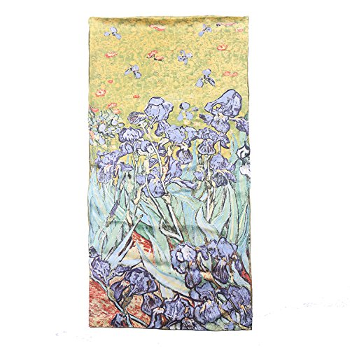 - Aqueena Women's 100% Luxurious 12-Momme Charmeuse Satin Long Silk Scarf Oil Paintings