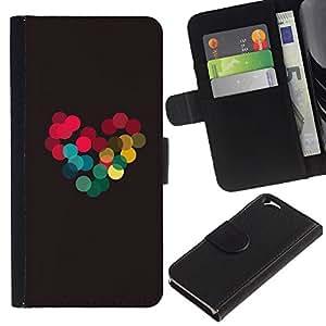 EJOY---La carpeta del tirón la caja de cuero de alta calidad de la PU Caso protector / Apple Iphone 6 / --Colores vibrantes brillante amor novia