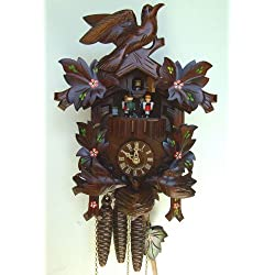 Schneider 13 Cuckoo Clock with Moving Birds and Hand-Painted Flowers