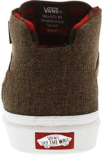 Vans Mens Gilbert Crockett Pro Mid Twill Stile Caviglia Alta Moda Sneaker Marrone