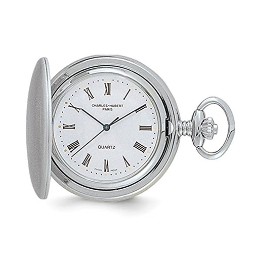 Charles Hubert Satin Chrome-finish Off White Dial Pocket Watch ()