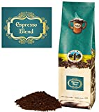 Mystic Monk Coffee: Espresso Blend | Fine Grind Dark Roast Coffee (Espresso Ground Coffee 100% Arabica) - 12oz