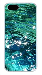 Protective PC Case Skin for iphone 5 White Fashion PC Case Back Cover Shell for iphone 5S with Light Green