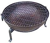 Indian Fire Bowl Set (70cm bowl, grill & stand) Kadai Style Bowl Set