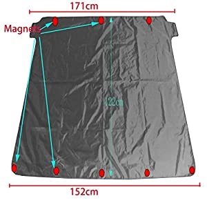Car Snow Windshield Cover with Magnetic on Edges ,U&M Winter Protection Frost Cover Windscreen Ice Protector Snow Heat & UV Protector Cover Sunshade
