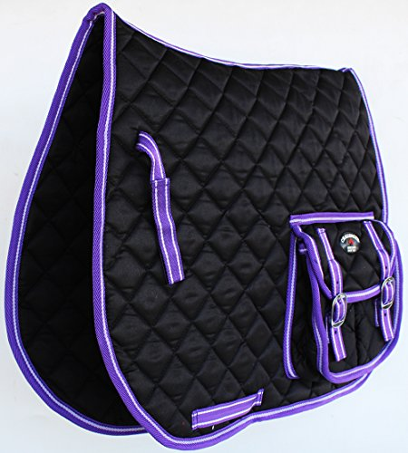St. Charles Horse Quilted English Saddle PAD Trail Trail All Purpose Pockets 7299