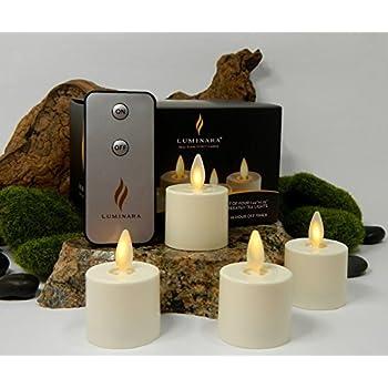Amazon Com Set Of 2 Luminara Rechargeable Tea Light
