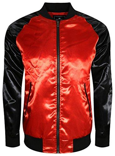 UPSCALE Mens Satin Souvenir Jacket REDBLACK L