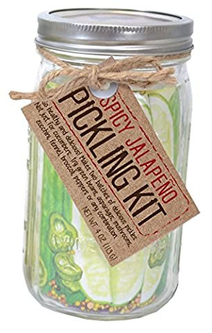 Pelican Bay Pickling Kit and Extra Mix 4oz (Spicy Jalapeno) - Makes 4 Batches Total ()
