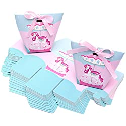 Ctystallove 30pcs DIY Paper Wedding Favor Box Bridal Shower Baby Birthday Party Candy Sugar Gift Decoration Boxes (Unicorn-Style)