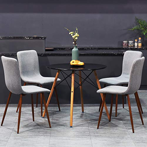 Wondrous Coavas Set Of 4 Kitchen Dining Chairs Assemble All 4 In 5 Short Links Chair Design For Home Short Linksinfo