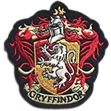 """J&C Harry Potter Gryffindor House Crest Hogwart 4"""" Tall X 4"""" Wide Embroidered Sew/Iron-on Patch"""
