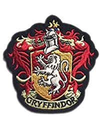 "J&C Harry Potter Gryffindor House Crest Hogwart 4"" Tall X 4"" Wide Embroidered Sew/Iron-on Patch"