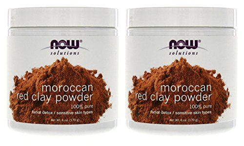 Price comparison product image Now Foods Red Clay Powder Moroccan - 6 oz. 2 Pack