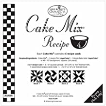 "Cake Mix Receipe #4 ~45 Receipe Cards make 360 3 3/4"" x 3 3/4"" HST"