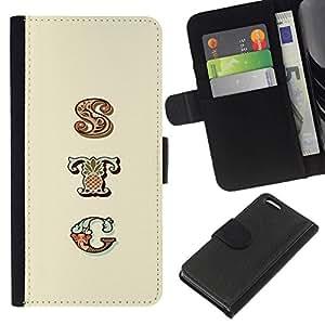 All Phone Most Case / Oferta Especial Cáscara Funda de cuero Monedero Cubierta de proteccion Caso / Wallet Case for Apple Iphone 5C // pocilga patrón de texto patrón iniciales amarilla