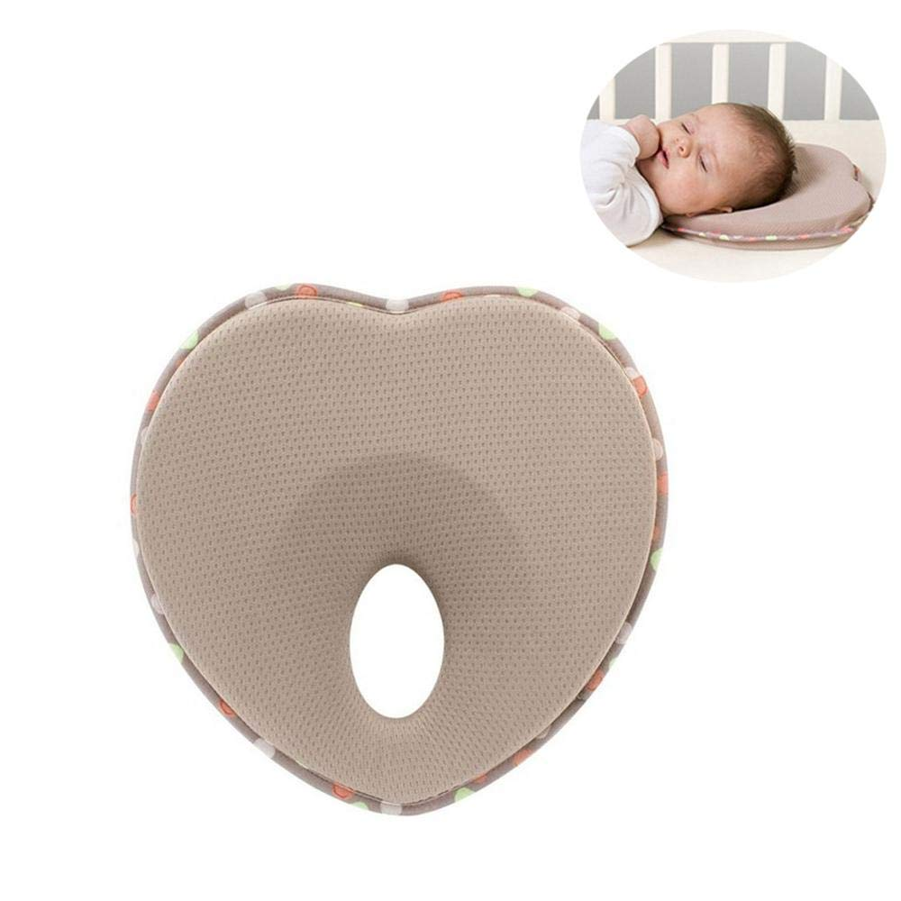Baby Head Shaping Pillow, FOONEE Newborn Baby Sleeping Pillow Memory Foam Cushion Flat Head Syndrome Prevention Prevent Plagiocephaly Baby Boy & Girl