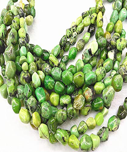 (daybeads 10-16mm Natural Chrysoprase Gemstone,Smooth Nuggets Freeform Brick Olive Gemstone Beads Strand 16inch )